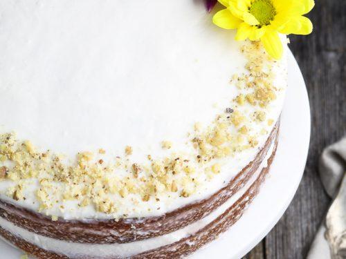 Prime Vegan Carrot Cake With Cream Cheese Frosting Vegan Huggs Personalised Birthday Cards Bromeletsinfo