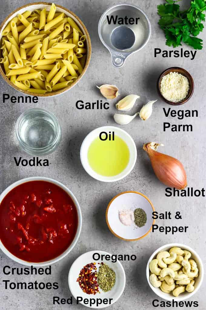 Ingredients to make the recipe on a stone table.