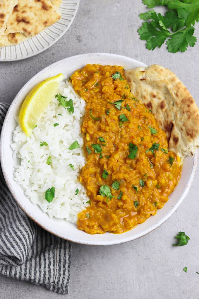 Easy Red Lentil Dahl Vegan Huggs